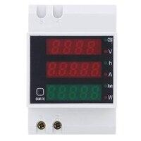 Оптовая продажа переменного тока 200-450 в измеритель мощности DIN рейка Тип Цифровой дисплей Амперметр Вольтметр