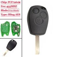 Remote key 3 taste 434 Mhz VA6 klinge 4A chip für Benz Smart Fortwo 453 2015 2016 Autoschlüssel    -
