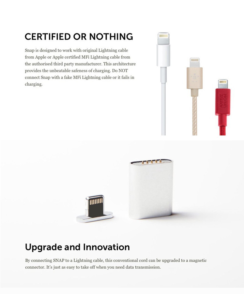 SNAP USB Magnetic Charger Adapter For iPhone 5 5S 6 6S Plus Only Support Connect MFI iphone 5 charger wire diagram dolgular com