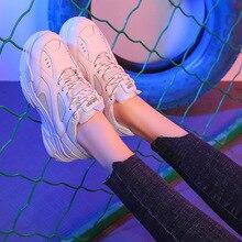 Platform Sneakers Women Shoes Breathable Wedge Sneakers Black PU tenis feminino Casual Shoes basket femme bambas mujer fooraabo spring women shoes 2018 new fashion red black platform sneakers women casual shoes harajuku basket femme tenis feminino