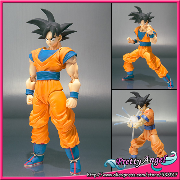 Brettyangel-véritable Bandai Tamashii Nations S. H. Figuarts Dragon Ball Z Figuarts Goku figurine d'action