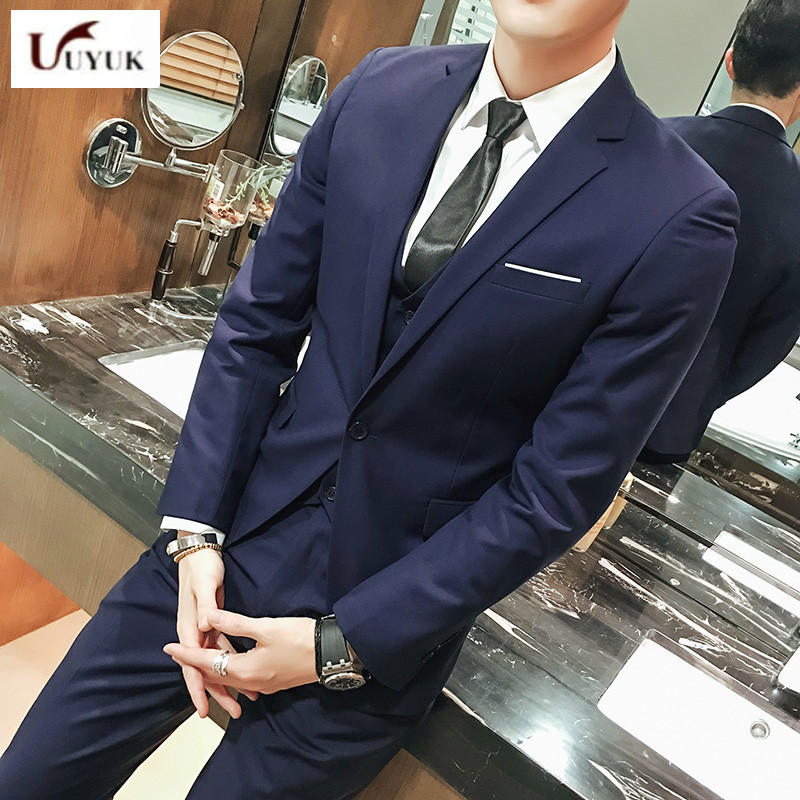men chinese Jacket Self cultivation Groomsman Small Groom Marry Full Dress Spring. Man's wedding Suit Loose Coat