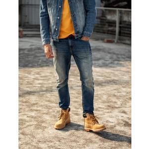 Image 4 - SIMWOOD שטף Slim Fit ג ינס גברים קלאסי בציר באיכות גבוהה 2020 אביב האביב חדש מקרית Streetwear ינס מכנסיים 190026