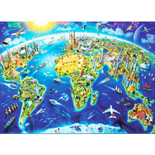 Wooden Kids Cartoon Jigsaw Puzzle 1000 Pieces Adult Montessori Educational Toys Juguetes Educativos Puzzles For Children 60P0021