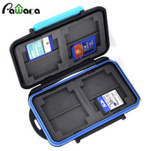 Waterproof Shockproof Travel Memory Card Case Holder Storage Box Bag For 8 SD Cards+4 CF Cards Carrying Case Pouch Protector Bag(China)
