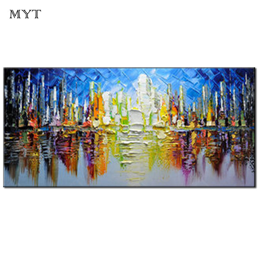 Us 19 2 40 Off Myt Famous Picture Art Acrylic Painting Abstract Canvas Art Rectangle Modern Hand Painted Canvas Oil Paintings Reproduction In
