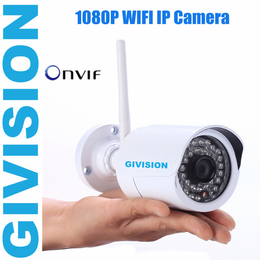 ONVIF network ip Camera 2mp 1080P HD H.264 P2P Wireless WIFI Outdoor Waterproof IR Security ip Web Camera motion detection jsa outdoor 1080p ip camera ir night vision onvif h 264 2mp waterproof security bullet network web camera