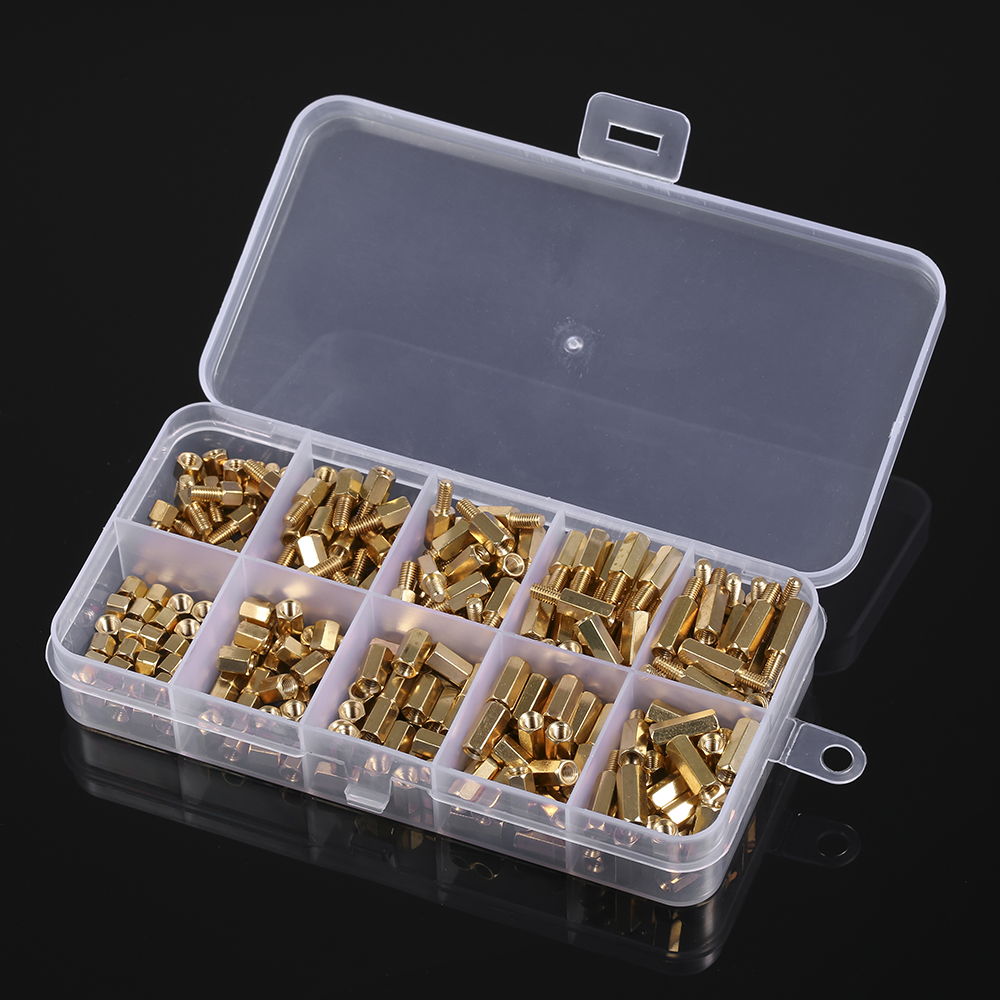 300pcs/set M3 Male Female Hex Brass Standoff Spacer Pcb Board Hex Screws Nut Assortment Kit Woodworking Tools Without Return
