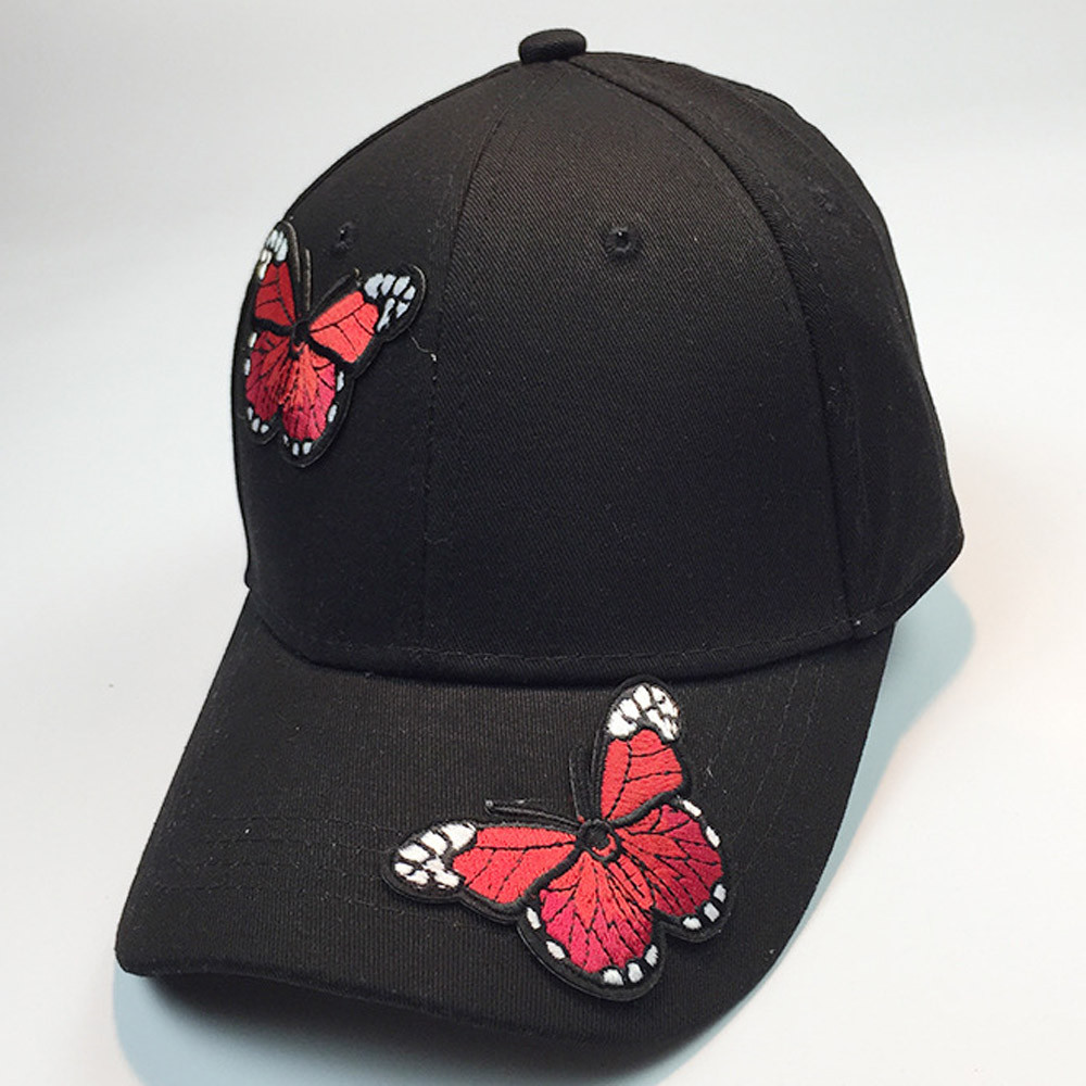 Women Men Couple Butterfly Baseball Caps Unisex Snapback Hip Hop Flat Hats  Gorras mujer and hombre prints Casquette ny Casquette 7660ac23ffd