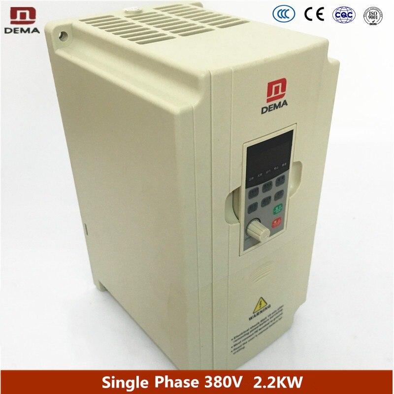 цена на DEMA D5M Series 220V Single Phase 2.2KW Variable Frequency Converter Drive AC MINI Micro Inverter 50hz 60hz AC Motor Controller
