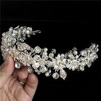 Neue Ankunft Mode prinzessin diadem clear crystal crown Nizza strass braut tiara beste geschenk für braut haarschmuck