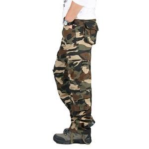 Image 4 - Autumn Winter Military Camo Pants Men Loose Cotton Army Trousers Casual Hip Hop Cargo Camouflage Pants Men Pantalon Camuflaje