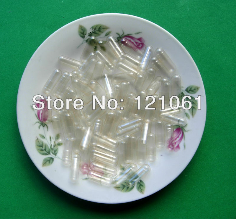 0 5000pcs Clear transparent HPMC Vegetable empty capsules vegetarian capsules closed pr seperated capsules available