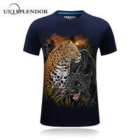 2017 עיצוב חדש מגניב חולצת קיץ הגברים T זאב נשר נמר 3D מודפס כותנה טריקו היפ הופ זכר חולצת טי חולצות גודל פלוס מקרית YN598