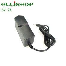 Adaptador de Energia Splug em das Unido para o para o Telefone em das Bruxas Allishop 5 V 2A DC AC 100 V-240 Poder Fornecer Bruxas 5.5*2.1mm UE EUA Reino Telefone Levou Luzes