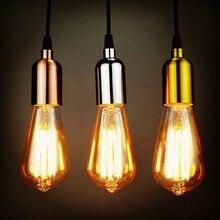 цена на Europe E27 Socket Glass led Pendant Lights Restaurant Dinning-room Bar Pendant indoor Lamp for Home Decoration Lamps Lighting