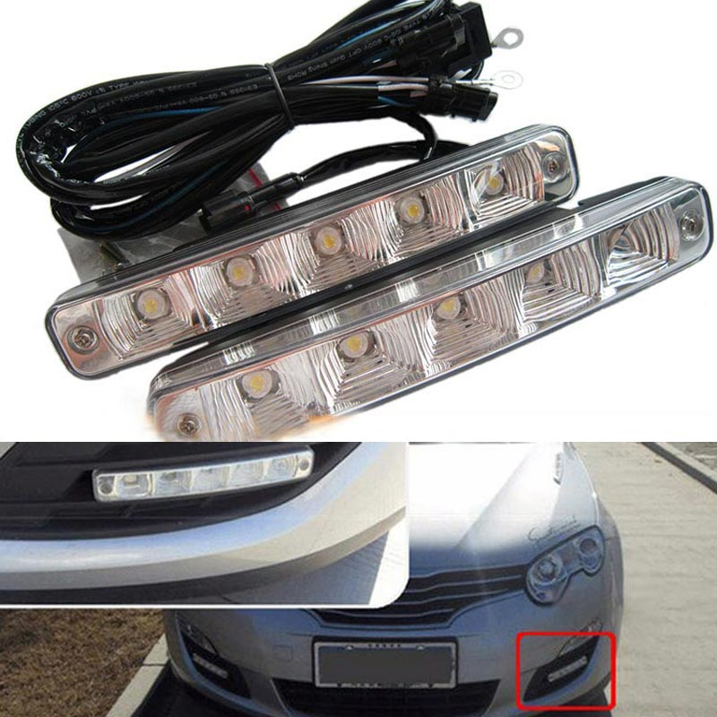 ФОТО Best Selling Universal cars High power 10W LED Daytime running lights with Metal housing E4 DRL LED freeship