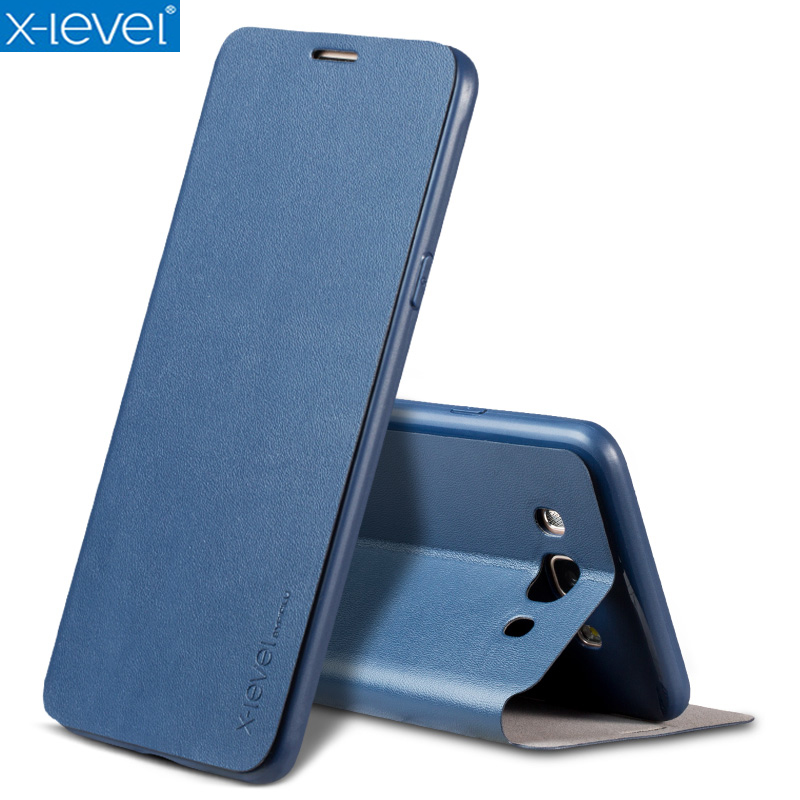 X-Level Book <font><b>Leather</b></font> Flip <font><b>Cases</b></font> For <font><b>Samsung</b></font> Galaxy <font><b>J5</b></font> 2016 J510 J510F Ultra Thin Business <font><b>Leather</b></font> Funda Cover <font><b>Case</b></font> image
