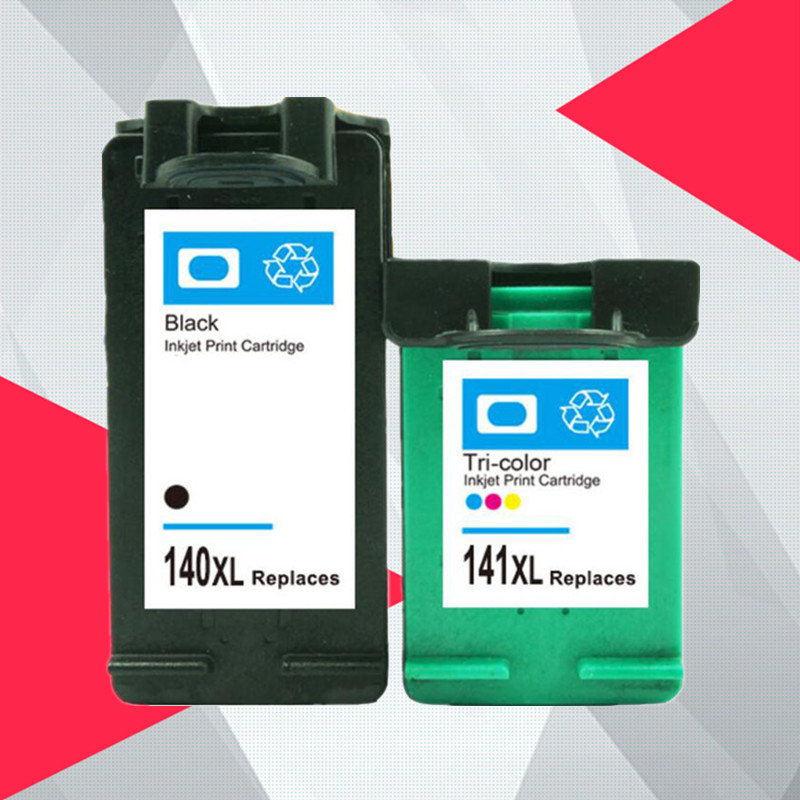Compatible 140XL 141XL Ink Cartridge Replacement for hp 140 141 for hp140 Photosmart C4283 C4583 C4483