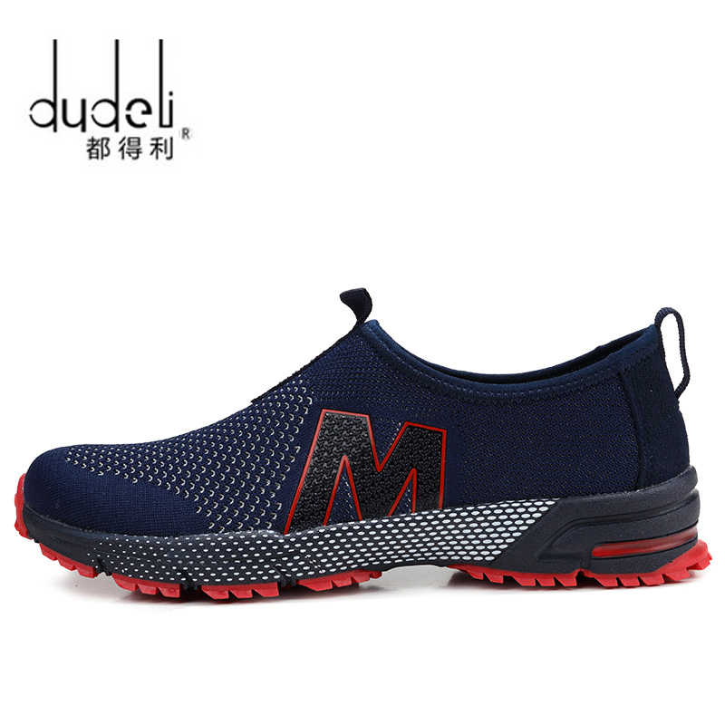 reputable site 4cb2f be937 DUDELI 2018 Hot Sales Fashion Light Breathable cheap Lace-up Men Shoes  Human Race Casual Shoes For Male Black Red
