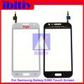 """Высокое качество 4.5 """"для Samsung Galaxy Core Prime SM-G360 G360 Touch Screen Digitizer Датчик Переднее Стекло Объектива Черный Или Белый"""