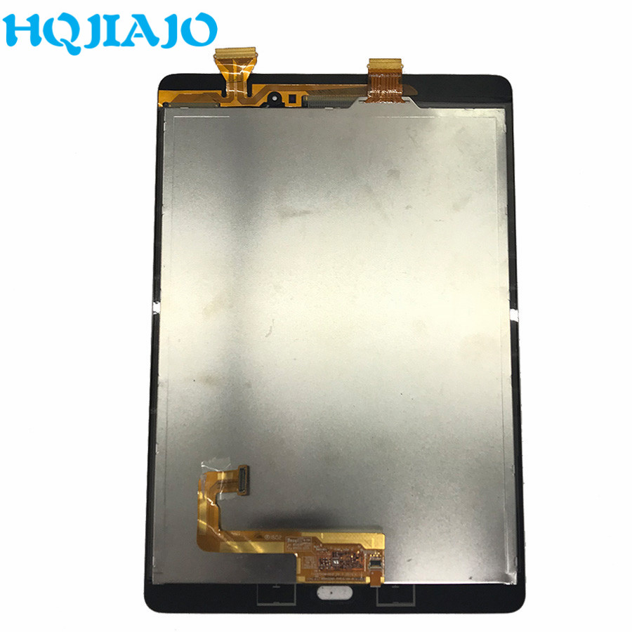 Tablet LCDs For Samsung Galaxy Tab A 9.7 SM-P550 SM-<font><b>P555</b></font> P550 <font><b>P555</b></font> LCD Display Touch Screen Digitizer Assembly Frame <font><b>P555</b></font> P550 image