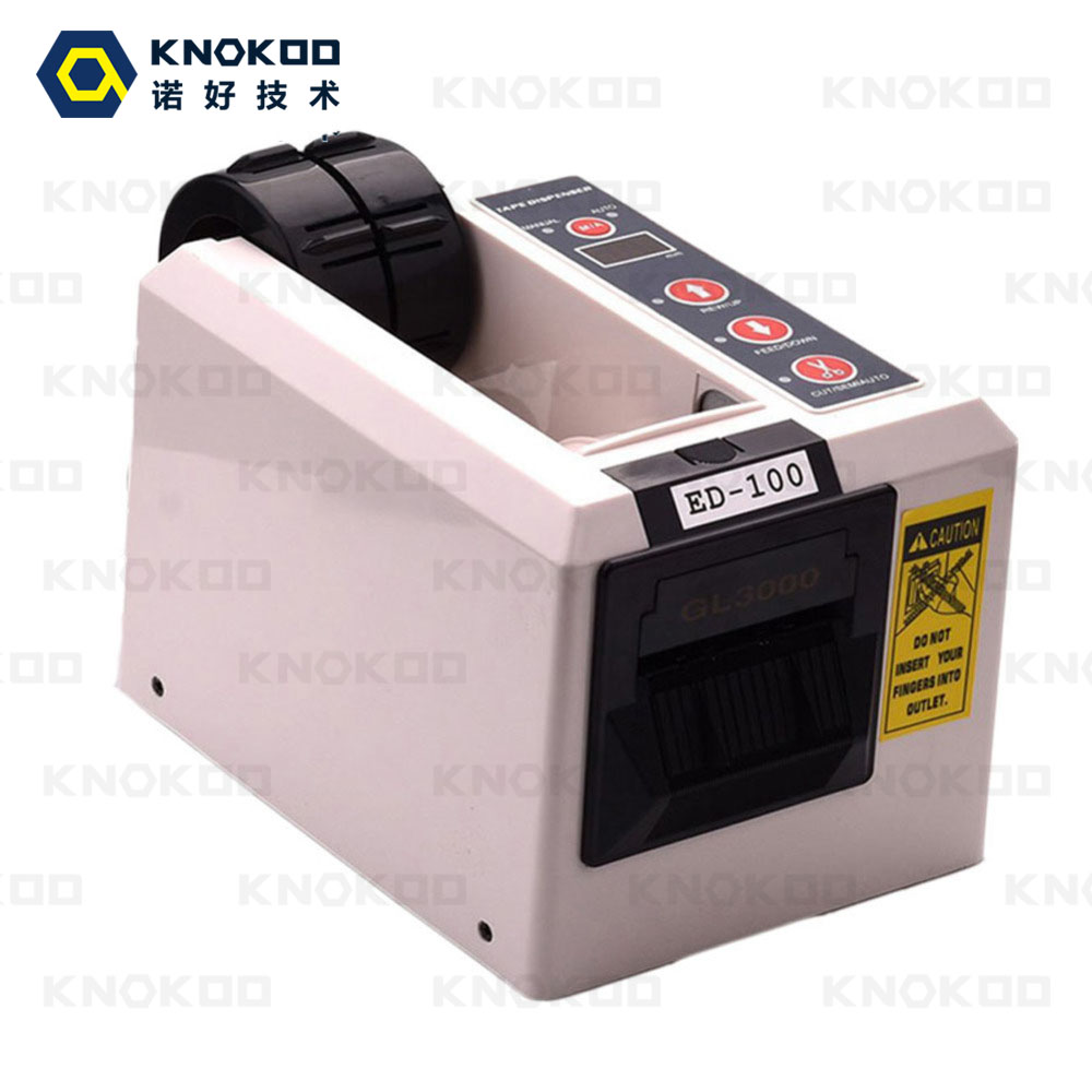 KNOKOO ELectronic Automatic Packing Tape Dispenser ED-100/ED100 Tape Cutter Machine electronic auotomatic tape dispenser knokoo ktm1000 tape cutter for 7 50mm wide tape memory function with ce approved