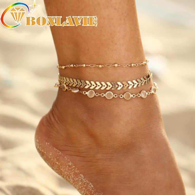 3 шт/лот Хрустальные Блестки Набор браслетов для ног женский браслет ювелирные изделия винтажные массивные ножные браслеты стиль вечерние летние ювелирные изделия