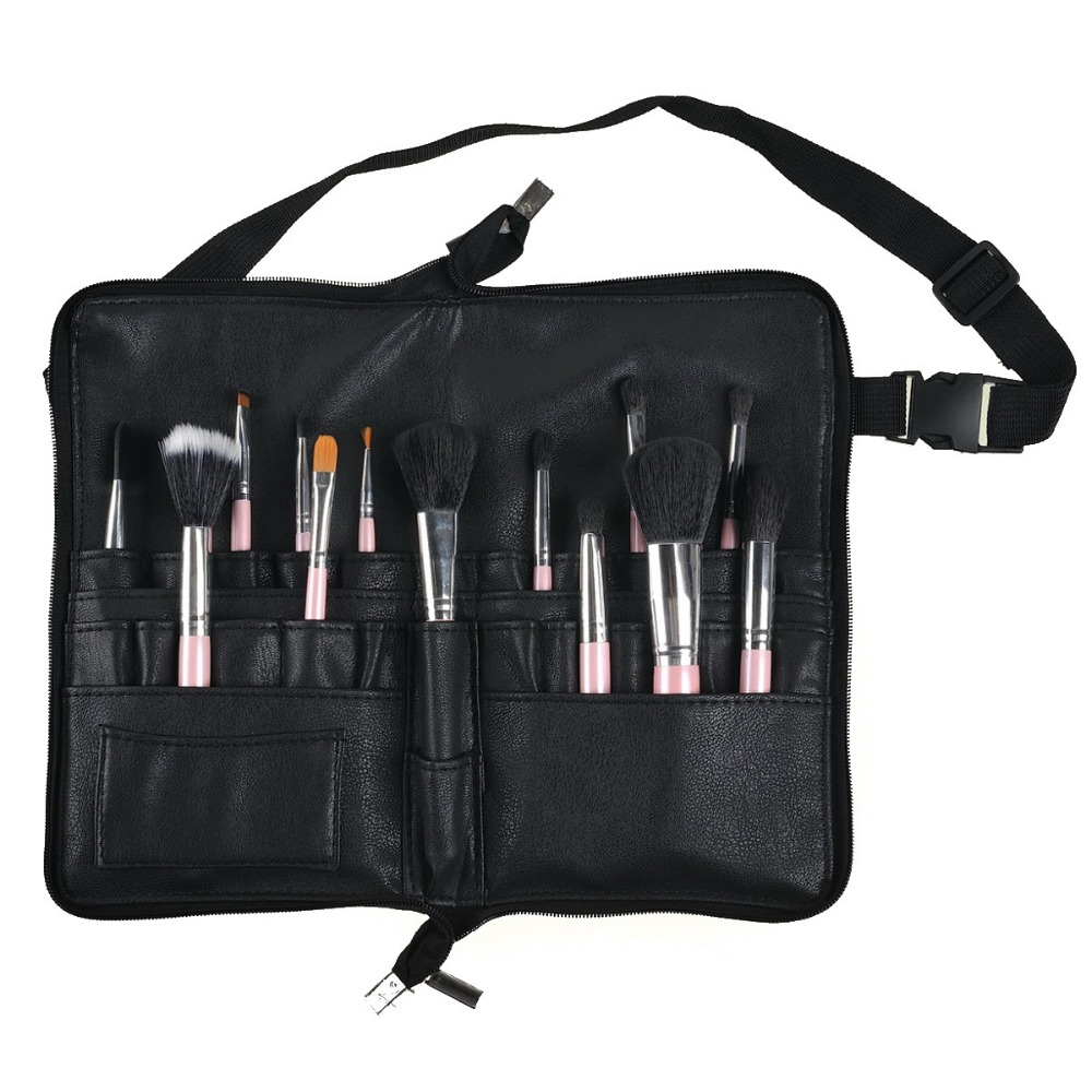 Professional Cosmetic Makeup Brush Pvc Apron Bag Artist Belt Strap Protable Make Up Bag Holder Makeup Tools & Accessories Eye Shadow Applicator brushes Not Included