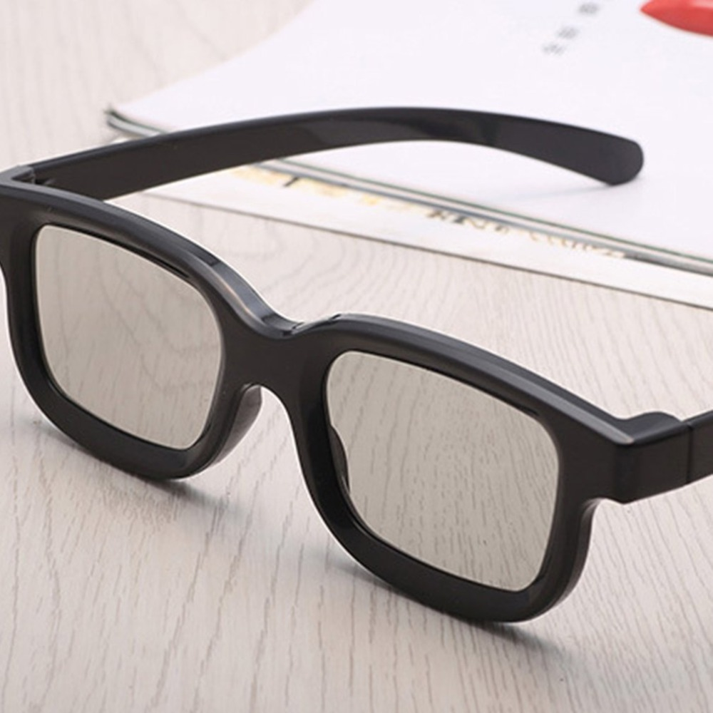 Universal Passive Circular 3D Polarized <font><b>Movie</b></font> Glasses Unisex ABS Frame Stereo Not Flash For 3D TV Cinemas image