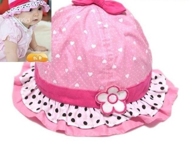 2017 Newborn Baby Hat Photography Props Delicate Lace Boy Cap Cute Polka  Kids  Sun Hats b1f96c4d52b