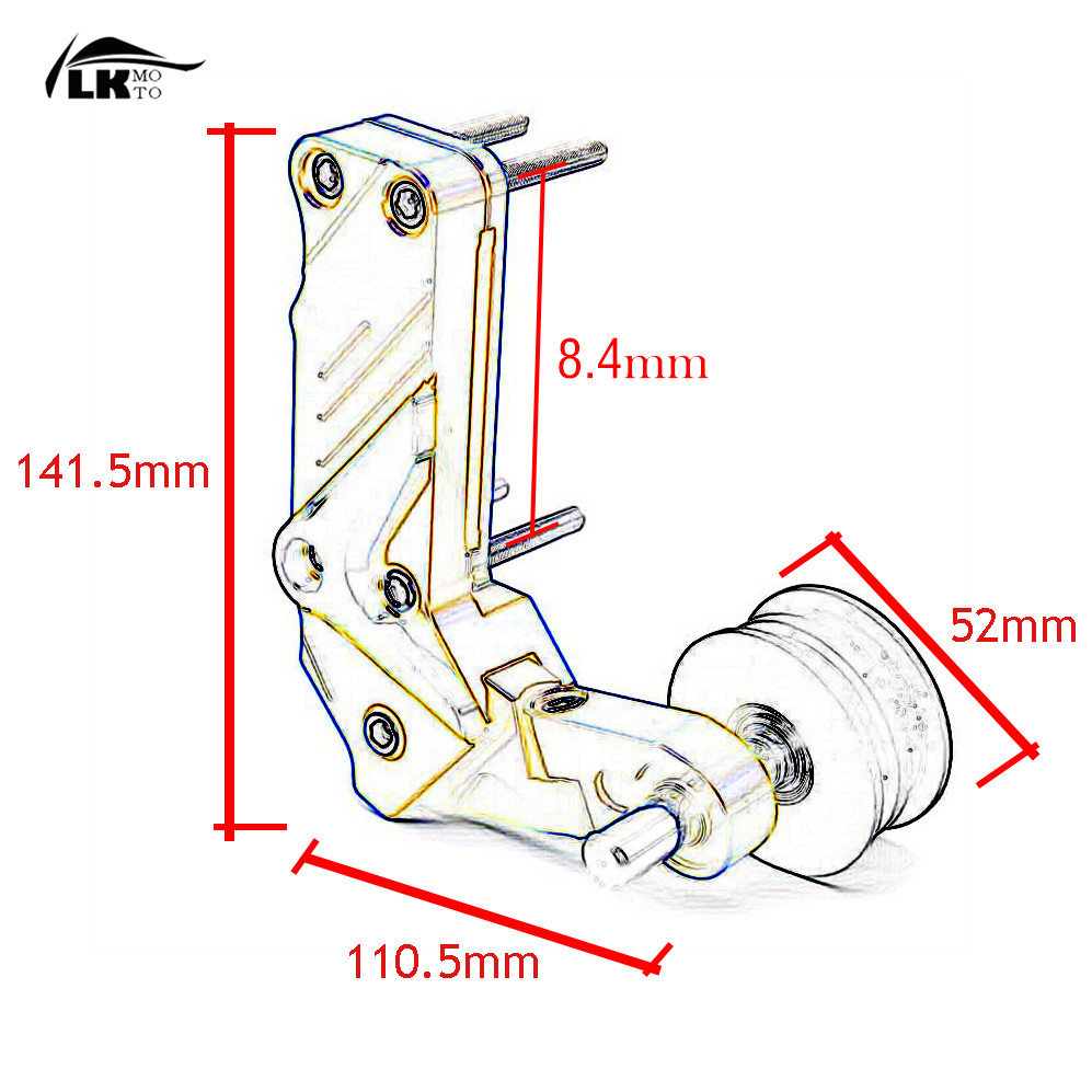 Universal Motorcycle Accessories Cnc Automatic Adjustable Conversion Yamaha Xj6 Wiring Diagram Chain Tensioner For Diversion 15 Yzf In Covers Ornamental