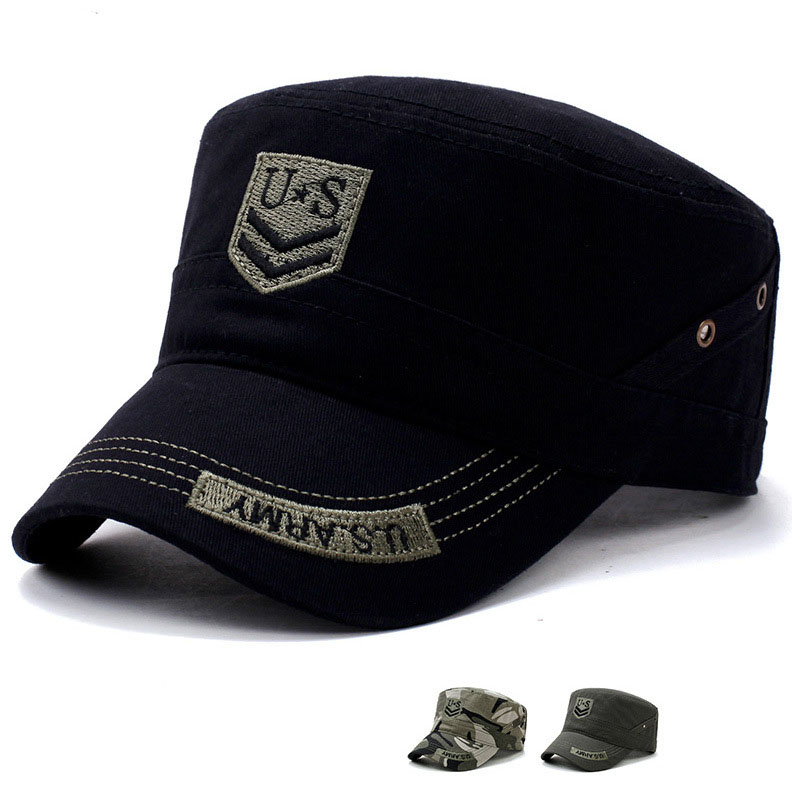 2147bca7ca5008 US Army Military Hat Flat Caps Tactical Men Camouflage Gorras Snapback Caps  Hunter Fisher Man Sun