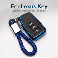 Car Styling Tpu Key Fob Cover For Lexus IS250 NX RX GS ES GS300 CT200h ES350 RX350 LX570 Key Ring Protection Case Accessories