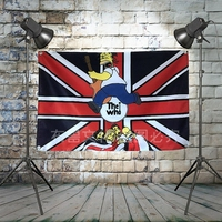 THE WHO Heavy Metal Rock Band Hanging Flags Industrial style Hanner Club Kar Billiard Hall KTV Hanging Painting Decor