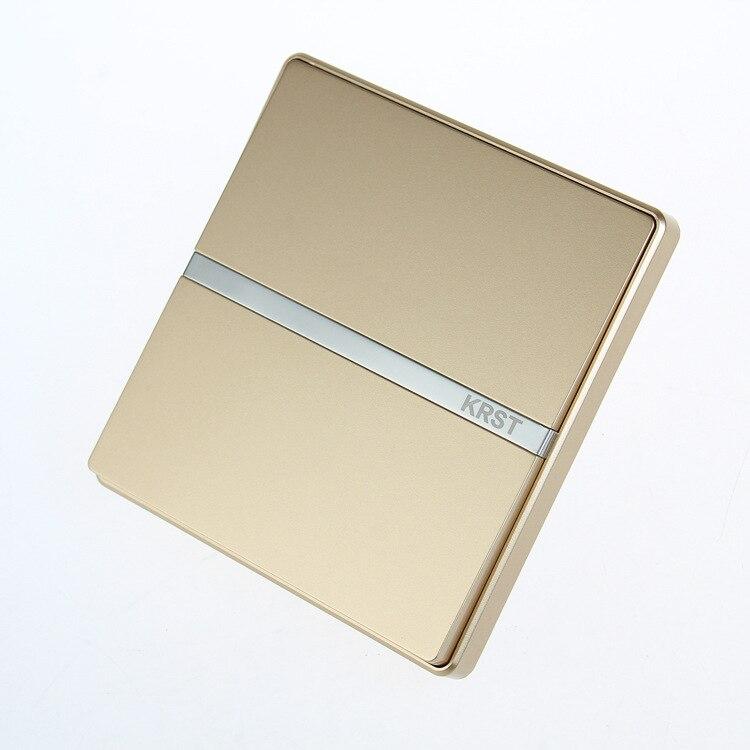 Interruptor Da Tomada de Parede de Decoração para casa, 86 Escondido Grande Placa De Ouro Champagne, um Interruptor de Controle Único, 10A PC 220 V