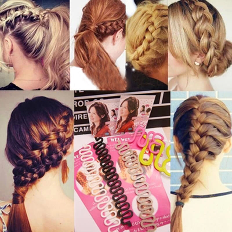 Weave braid promotion shop for promotional weave braid on 1pcs new roller hair styling tools weave braid hair braider tool hair styling magic twist bun maker hair roller accessories 2016 ccuart Image collections