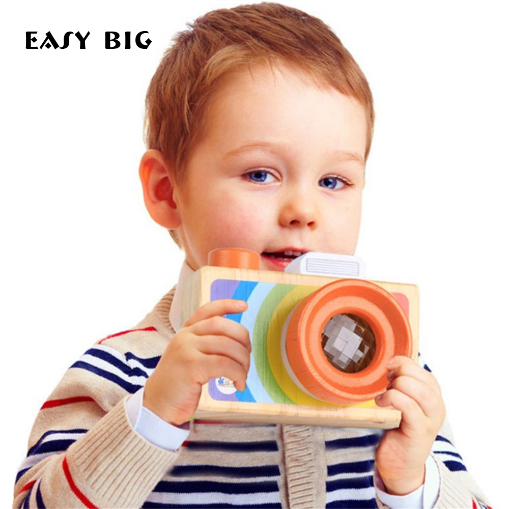 EASY BIG Mini Cute Wood Camera Toys Safe Natural Toys For Baby Children Fashion Educational Toys Birthday Christmas Gifts TH0055