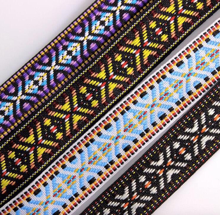 Dynamisch Inheemse Borduurwerk Etnische Jacquard Singels Geweven Tape Kant Lint 2.5 Cm Kledingstuk Accessoires Gift Decoratie Boho Gypsy Diy Craft