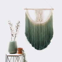 50cm X 55cm Macrame Wall Art Hand made Dyed Cotton Wall Hanging Tapestry and Lace Fabric Witchcraft Boho Decor