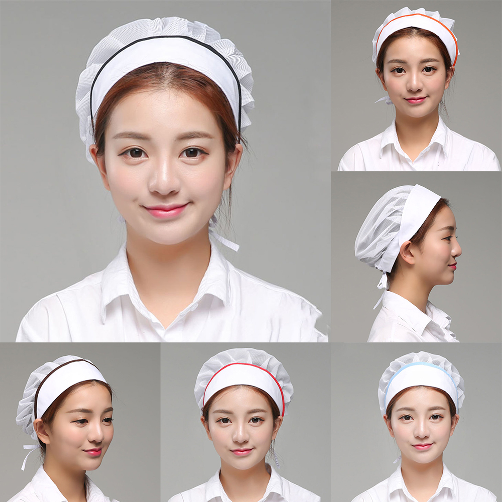 Sanxiaxin Adjustable Mesh Caps Cafe Bar Kitchen Restaurant Hotel Bakery Waiter Chef Work Hats Men Women Breathable Mushroom Hat