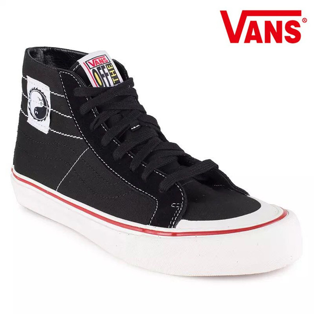 c5badbb36eb7d5 Vans Sk8-Hi Classic Men and Womens canvas shoes Surfing joint fashion yin  and yang high help Weight lifting shoes Eur 36-44