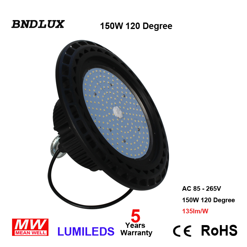 LED UFO High Bay Ceiling Light 100W 6000K Daylight Retrofit 400W MH/HID 120D
