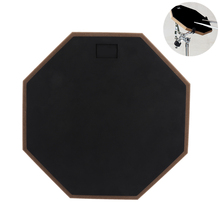 12 Inch Black Professional Rubber Wooden Dumb Drum Portable Durable Practice Training Drum Pad for Jazz Drum Exercise 10 inch dumb drum practice jazz drums exercise training abs drum pad with drum sticks and