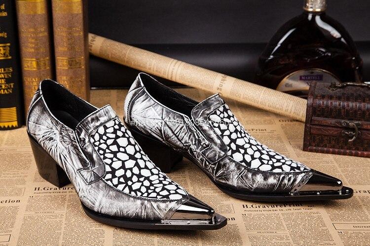 Balck bianco zapatos scarpe di coccodrillo per gli uomini mens alti talloni metallic oxford men dress scarpe di lusso di marca zapatillas hombre-in Scarpe da cerimonia da Scarpe su  Gruppo 3