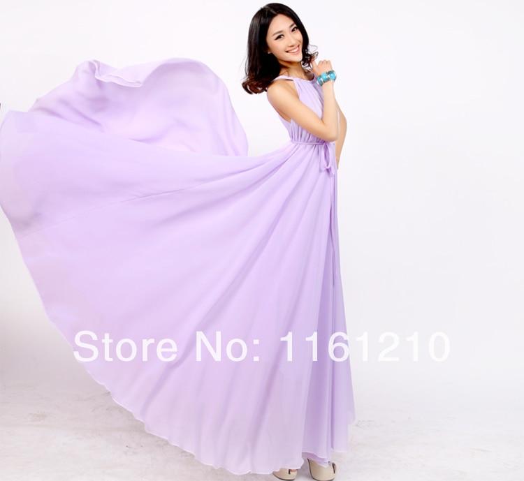 Lavender Dress Summer Sundress Holiday Beach Maxi Dress Party Guest