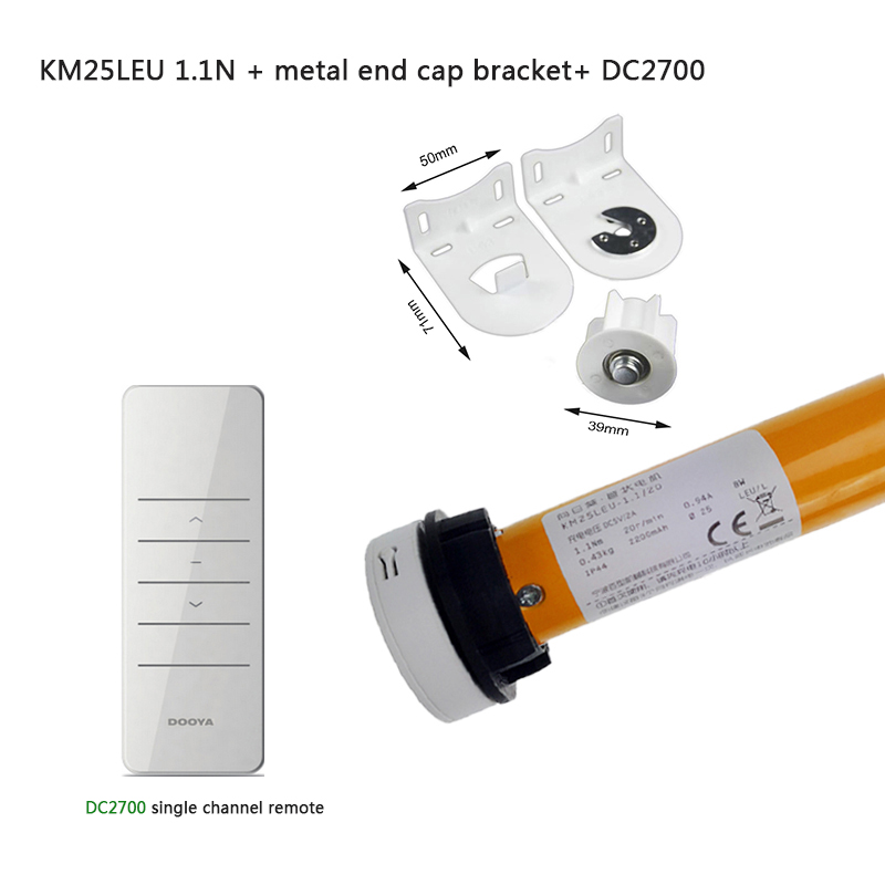hot sale 12V tubular battery motor Dooya motor 433MHZ KM25LE 1 1N m for 38mm tube