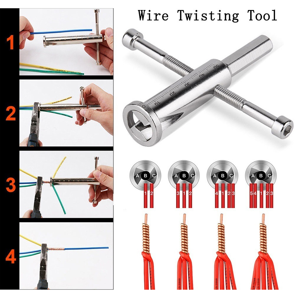 New Cable Connector Wire Peeling Tool Stripper Twister For Power Drill Driver Wire Twisting Tool For Home Electrical Equipment