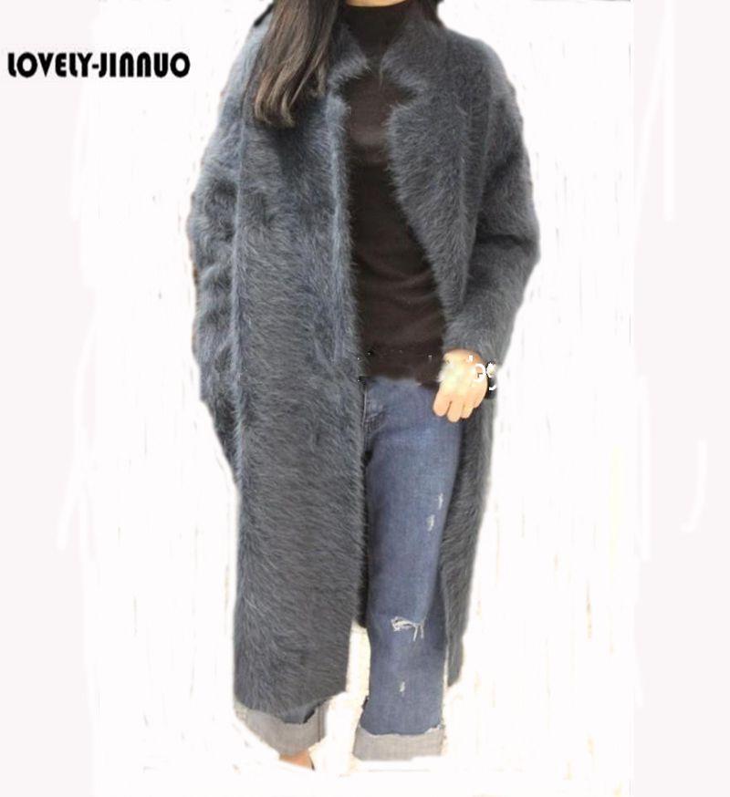 100 genuine mink cashmere sweater women pure cashmere cardigan knitted mink jacket fashion winter long coat