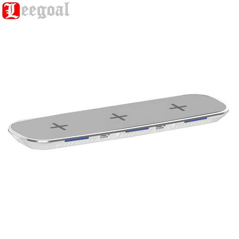 Leegoal 3 en 1 Qi chargeur de bureau sans fil chargeur rapide pour iphone X iphone 8 plus pour Motorola Moto 360 montre intelligente